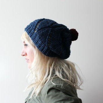 Dark Blue- Slouchy Hat