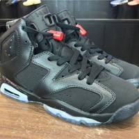 PEAPVX Jacklish Grade School Nike Air Jordan 6 Vi Retro 3m Anthracite/black-hyper Pink
