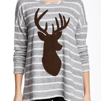 Striped Reindeer Pullover