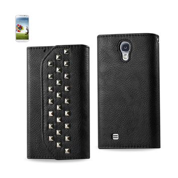New Studs Wallet Case In Black For Samsung Galaxy S4 By Reiko