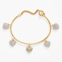 Juicy Couture 'Mad for Mod' Pave Heart Charm Bangle