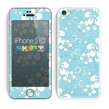 The Vintage Hawaiian Floral Skin for the Apple iPhone 5c