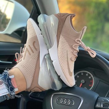 NIKE AIR MAX 270 FLYKNIT Female Atmospheric Cushion Running Shoes