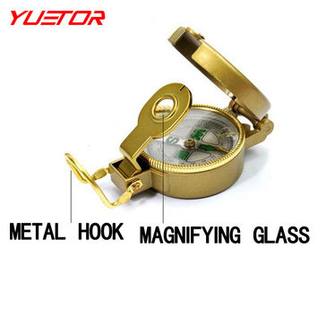 Brand YUETOR folding lens pointer professional compass military with magnifier waterproof bussola outdoor hiking compas
