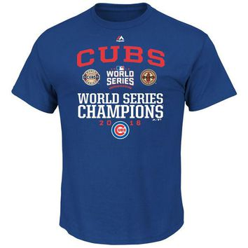 Youth Chicago Cubs Majestic 2016 World Series Champions Headline News T-Shirt - Royal