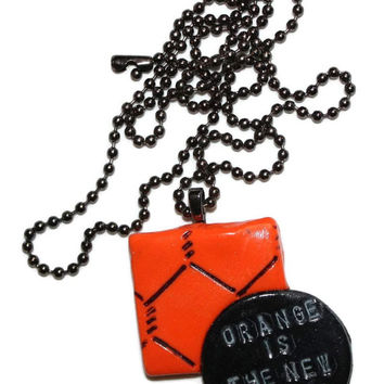 Orange Is The New Black Pendant Charm Necklace OITNB