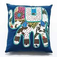 Patchwork Elephant Cushion - Urban Outfitters