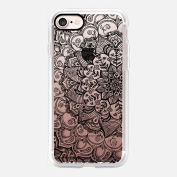Shades of Crystal Grey Transparent Doodle iPhone 7 Case by Micklyn Le Feuvre   Casetify
