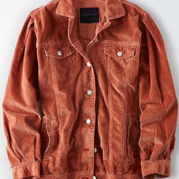 AE Corduroy Trucker Jacket, Rust