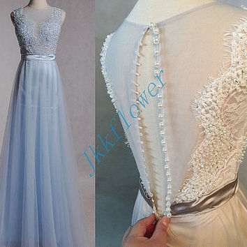 Unique Backless Beaded Prom Dresses,Tulle Organza Prom Dresses,Long Evening Dresses,Bridesmaid Dresses,Homecoming Dresses