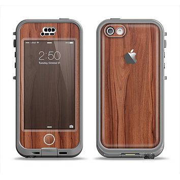 The Smooth-Grained Wooden Plank Apple iPhone 5c LifeProof Nuud Case Skin Set