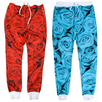 Womens Rose Sweatpants/Joggers