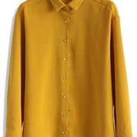 Fairy Tale Vibe Shirt in Mustard