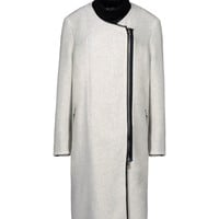 3.1 Phillip Lim Dove Grey Wool Blend Full Length Coat - Womens Coats - ShopBAZAAR