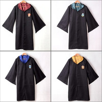 Harry Potter Gryffindor Slytherin Hufflepuff Ravenclaw Robe  Cape Cosplay Costumes Cloak