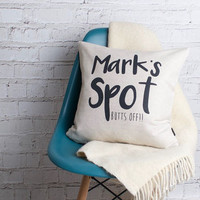 'My Spot' Personalised Cushion Cover