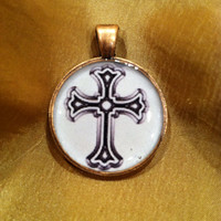 Cross pendant necklace charm. Fun way to wear your faith!