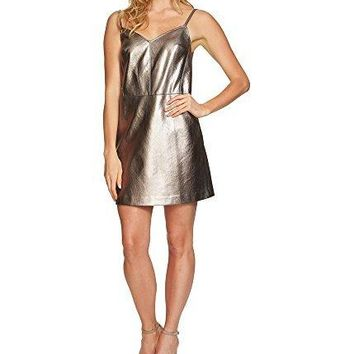 1.State Womens Faux Leather A-Line Dress
