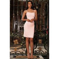 Pink Blush Sweetheart Neckline Bodycon Fancy Party Mini Dress - Women