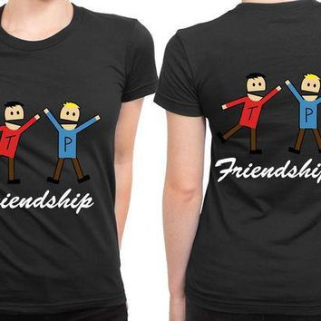 MDIGGW7 South Park Terrence Friendship 2 Sided Womens T Shirt