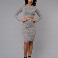 Same Old Love Skirt - Grey