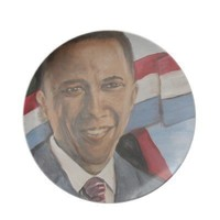 Obama  Plate from Zazzle.com