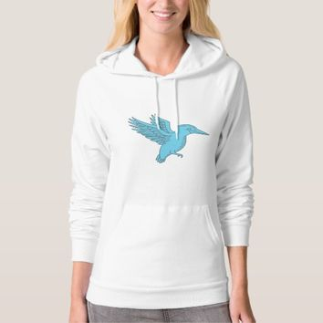 Kingfisher Flying Mono Line T-Shirt