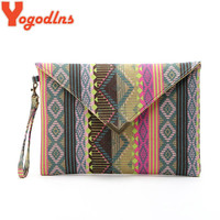 Yogodlns handbag canvas day clutches fashion women messenger bags striped handbags vintage evenlope clutch bag Bolsa Feminina