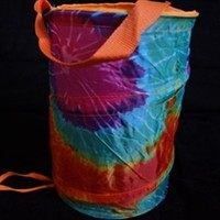 Pop Up Dorm Caddy - Tie-Dye College Laundry Necessities Caddies Wash Clothes Hamper