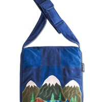 NEW! Mountain Patchwork Purse