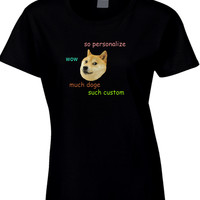 Doge Personalized Womens T Shirt