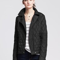 Quilted Gray Moto Jacket
