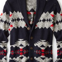 AEO 's Patterned Shawl Cardigan (Multi)