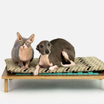 Float Platform Bed // Mid Century Modern Pet Furniture // Dog & Cat Bed