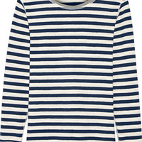 Sleepy Jones - Helen striped cotton-jersey pajama top