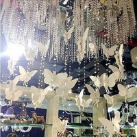 5 strings  white  angel bead curtain  / Hang under the chandelier / The window or door  curtain / Home decoration /free shipping