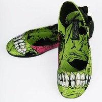 Iron Fist Zombie Stomper Flats - Black/Green (Vegan) - Punk.com