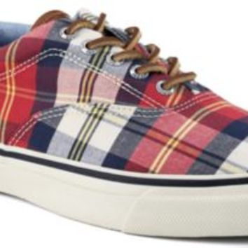 Sperry Top-Sider Striper CVO Plaid Sneaker RedPlaid, Size 10.5M  Men's Shoes