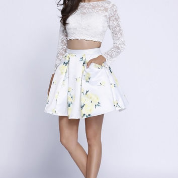 Two Pieces Prom Night Out Short Dress