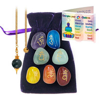 Chakra Energizing Kit with pendulum