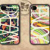 Couple Case, iPhone 5 Case,iPhone 4/4s, Samsung GS3 Case-Hand Draw Design,Silicone Rubber or Hard Plastic Case-The Love Song, Rain, Lover