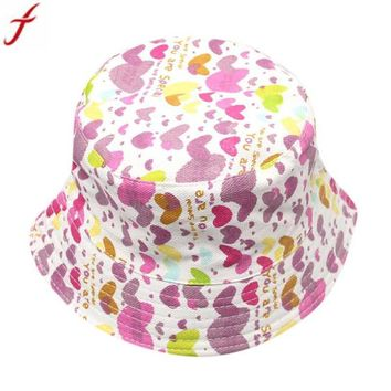 2018 New Fashion Boys Girls Floral Pattern Bucket Hats Summer Girls Beach Cotton Sun Fishing Bucket Hats Gorro Drop Shipping