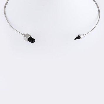Square Tip Open Collar Necklace