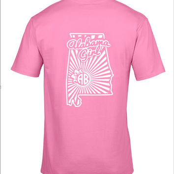 Alabama Girl monogram shirt - Pink