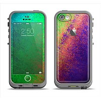 The Vivid Neon Colored Texture Apple iPhone 5c LifeProof Fre Case Skin Set