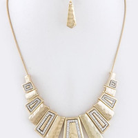 ART DECO ORNATE BIB NECKLACE SET