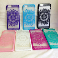 Vintage Lace Floral Iphone Case for 5 S 6 6S Plus