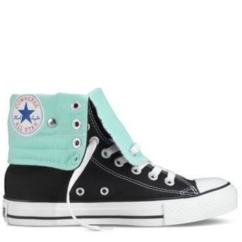 Black & Sea Glass Chuck Taylor Knee Hi Shoes : Knee High Chucks | Converse.com