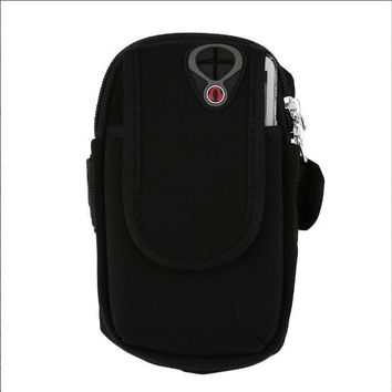 Sports gym bag Outdoor Gym Sports Running Gear Wrist Bag Arm Band Waterproof Mobile Phone Armband Bags Earphone Jack Hole Holder Pouch Case KO_5_1
