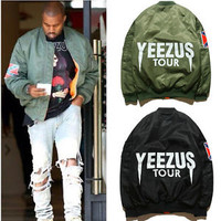 Men's MA1 Bomber Flight jacket KANYE WEST YEEZUS tour coat